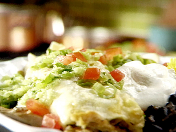 ... something new: Chicken Enchiladas with Roasted Tomatillo Chile Salsa