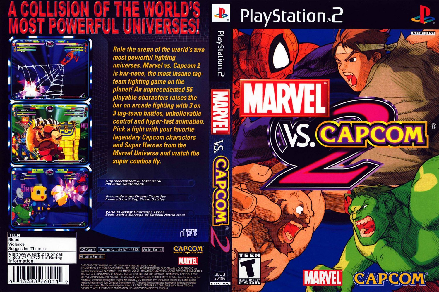 Bajar Marvel Vs Capcom 2 [PS2][1 Link][Dvd]