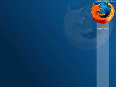 Firefox Blue Standard Resolution Wallpaper