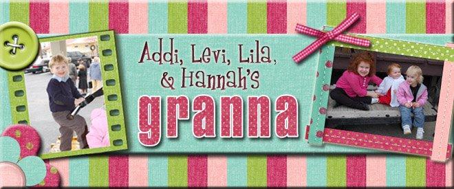 Addi, Levi, Lila, Jaiden, Hallie Kate, and Hannah's Granna