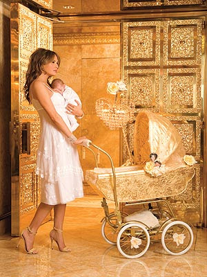 donald trump golden apartment