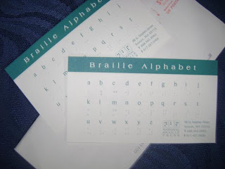 Brinde Gratis Cartões para Ensinar Braille II