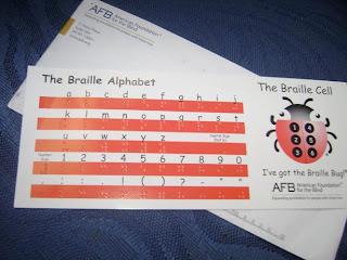 Brinde Gratis Cartões para Ensinar Braille I