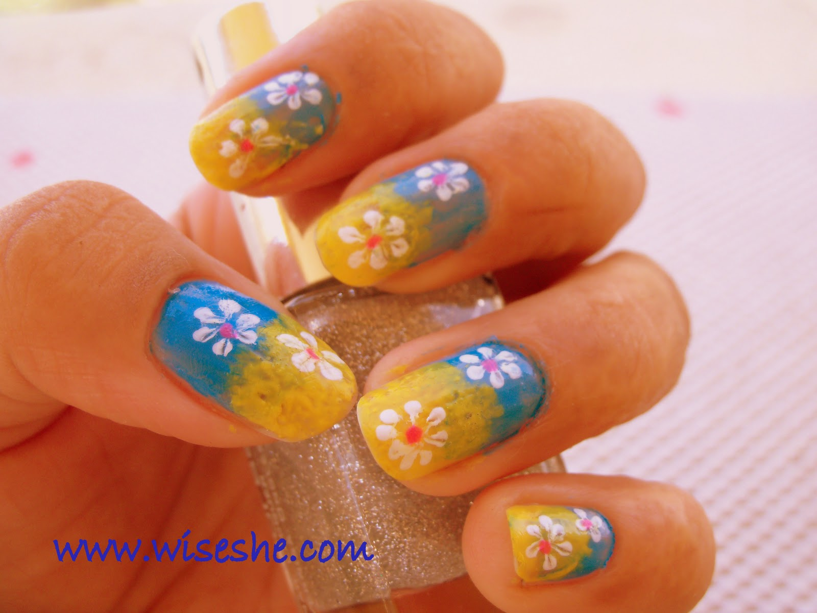The Charming Cute easy nail designs glittery Image