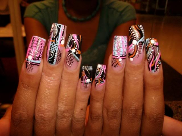 Nail art for long nails | NAIL NAIL