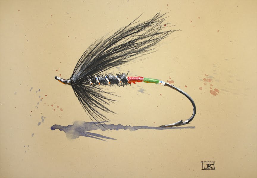 fly fishing drawing - photo #28