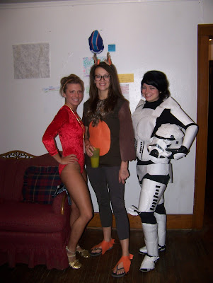 She makes stormtrooper costumes out of paper plates.