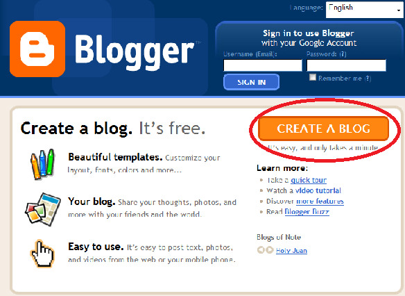 Cafeshared How To Create A Blog
