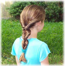 little girls simple cilps hairstyles