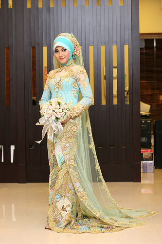 Muslim Wedding Dresses For Bride In : Grooms wear western style suits bridesmaids dresses in colors
