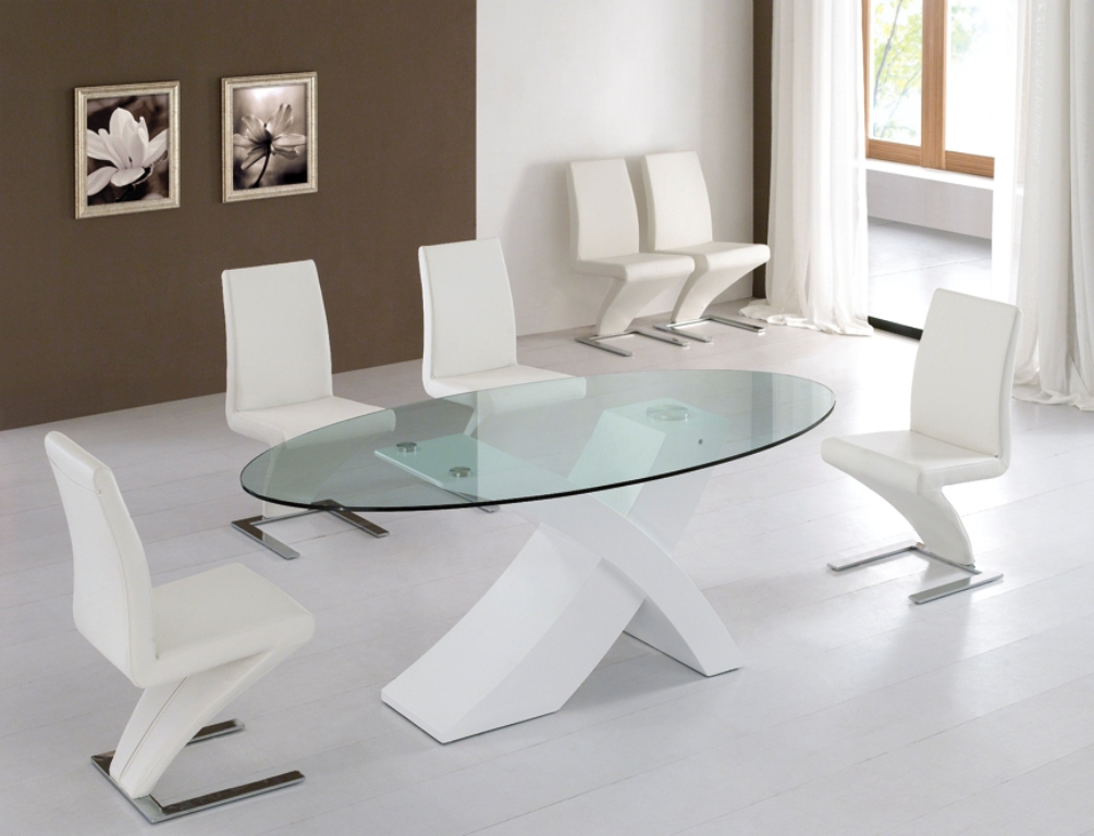 Exceptionnel Modern Glass Dining Table Set