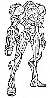 metroid coloring pages metroid coloring pages