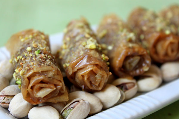 Cake or Death?: Baklava Fingers & Spiced Orange Sorbet