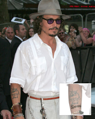 johnny depp tattoos. johnny depp tattoos 2010.