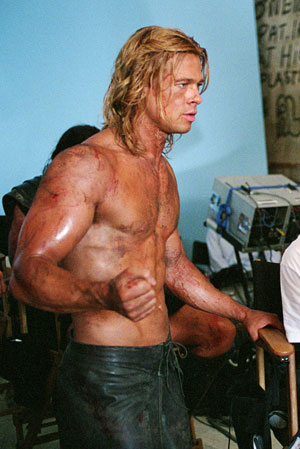 brad pitt troy. rad pitt troy workout.