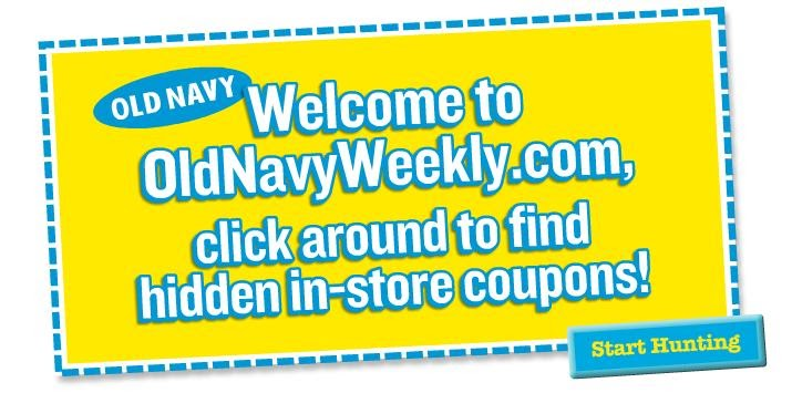 Old navy printable coupons september 2019