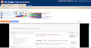 Blogger Adsense template
