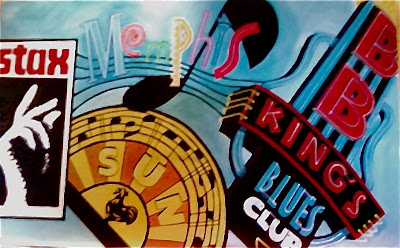 Memphis music acrylic paint