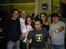 Warley Santana, Vitor Vargas, Carol Triguis, Luizinho Beltrame eu e..quem é aquela doida no fundo?