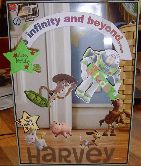 Susibees Crafty Mess Toy Story Birthday Card