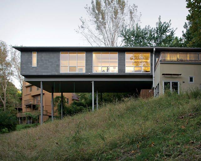 Neocribs house on stilts christian arnold kansas city for Modern house on stilts