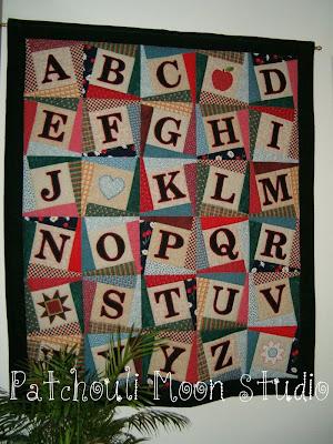 how to make letter quilt blocks