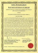 Kenshido International Sdn Bhd telah dianugerahkan Sijil Pengesahan dan Kepatuhan Syariah