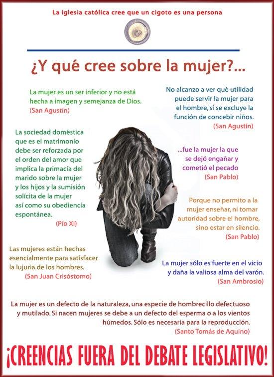 """""""La Iglesia discrimina a la mujer"""" Cartel2"""