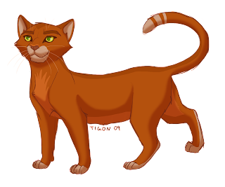 """A Warriors Chance"" Characters Fireheart_II_by_tigon"
