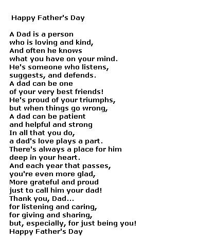 fathers day quotes. Fathers Day poems