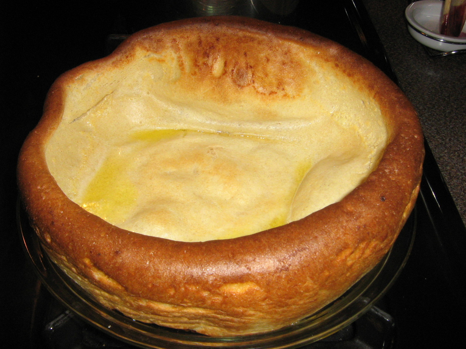 Here is what your pancake will look like out of the oven. (It looks ...