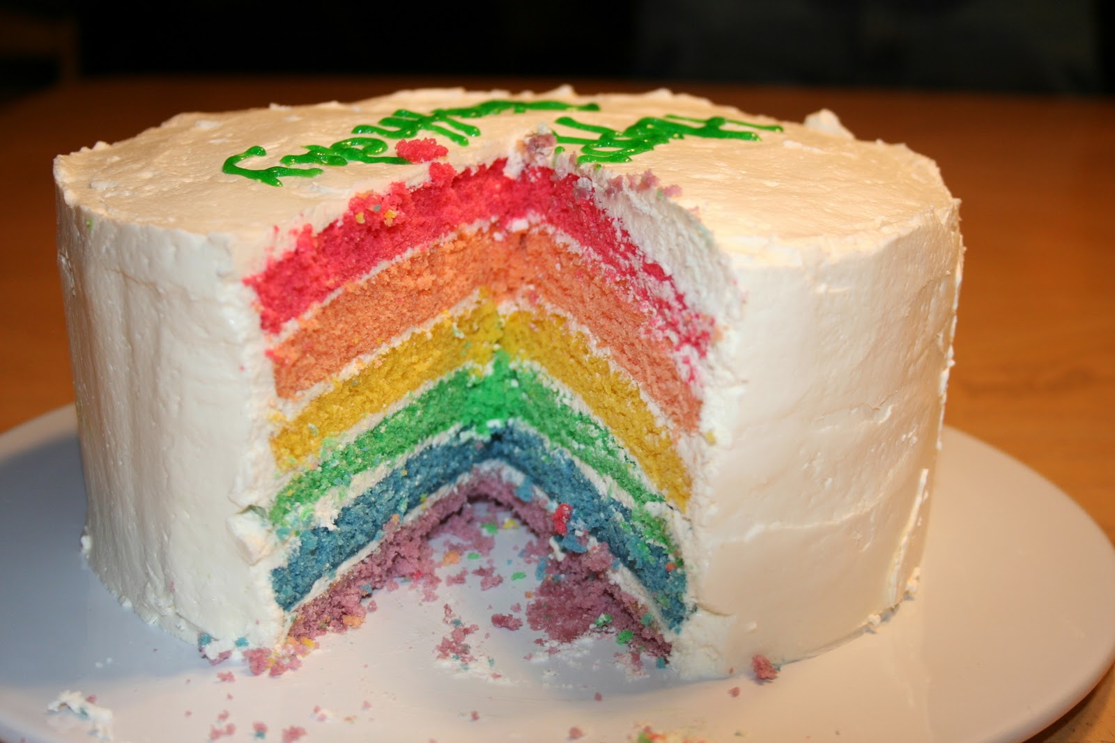 Cake Images With S : Janis Cooks: Rainbow Cake