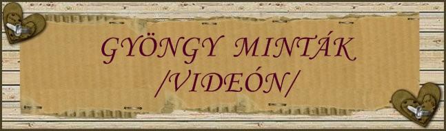 Gyöngy minták /videón/