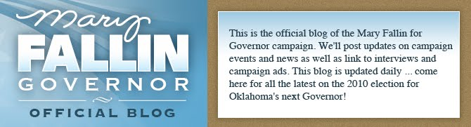 Mary Fallin for Governor -- Official Blog
