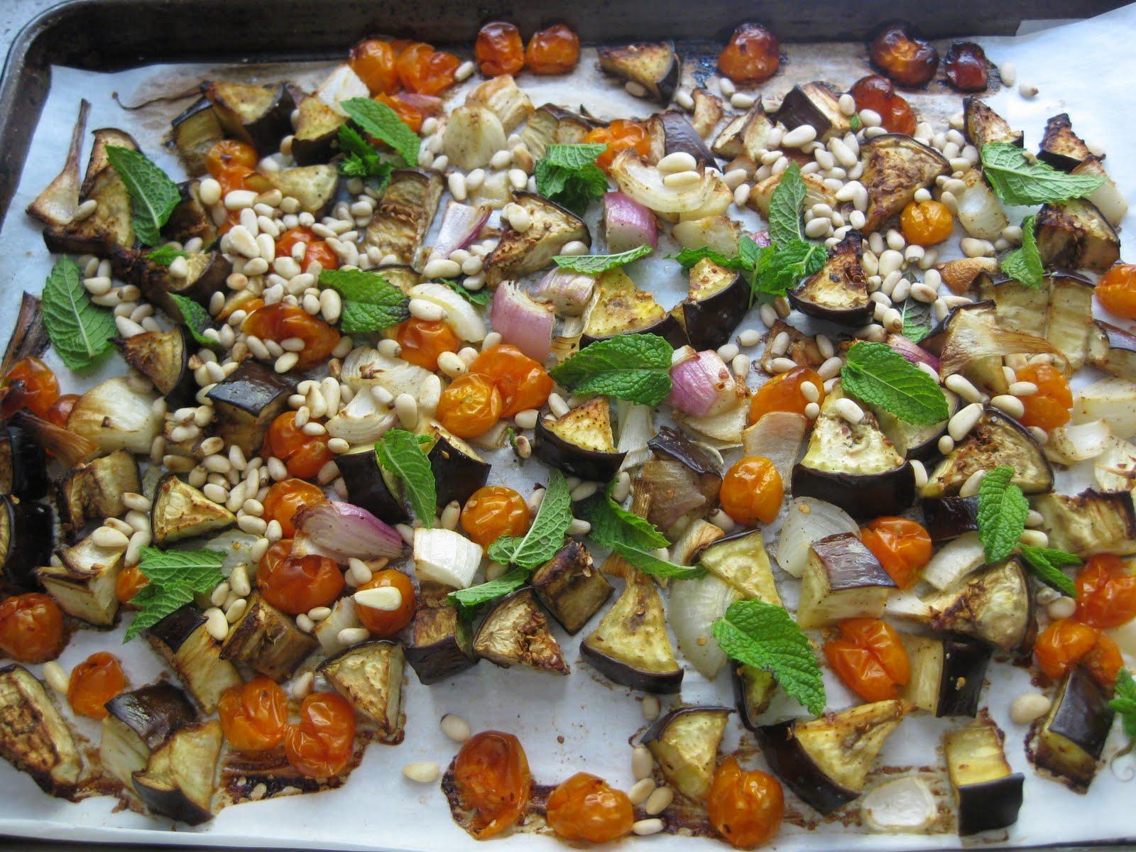 Dinner Tonight: Rigatoni with Roasted Eggplant, Tomatoes, & Mint