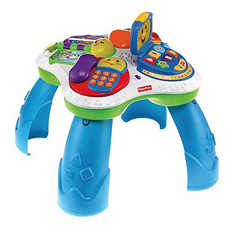 Awesome Fisher Price Laugh and Learn Fun With Friends Musical Table So this is wonderful for fine motor skills and cognitive development but it was instrumental