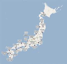 แผนที่Japan