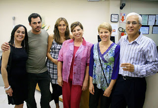 Lú Albuquerque, Nauro Júnior, Gabriela Mazza, Fátima Carvalho, Rose Perufo e Ubirajara Mello