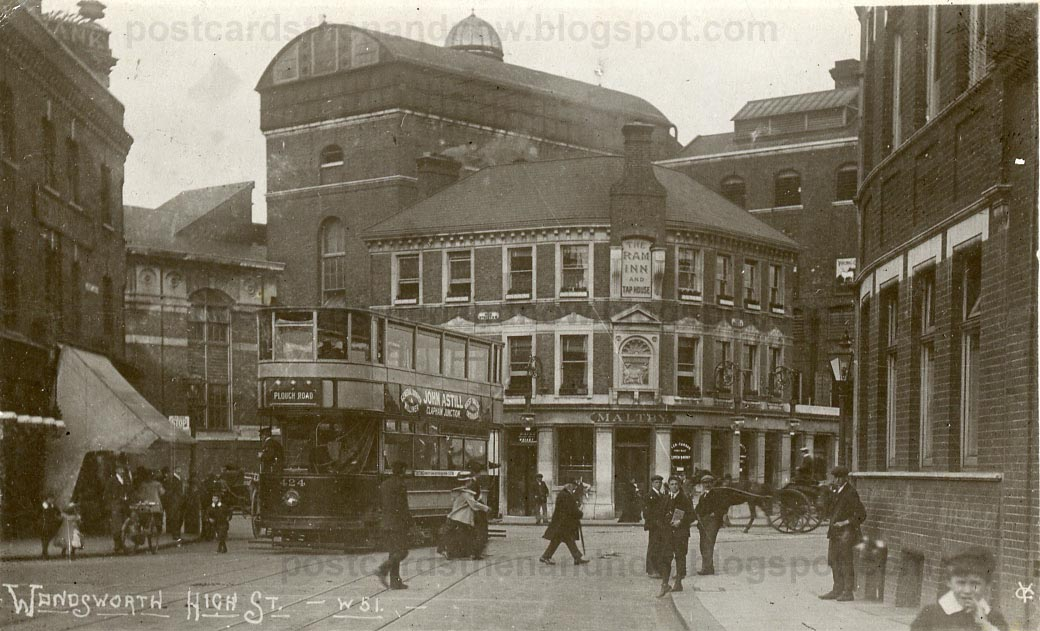 Postcards Then And Now Wandsworth High Street 1906