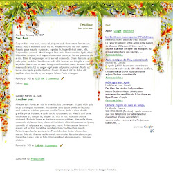 Google Blogger Template - Colibri