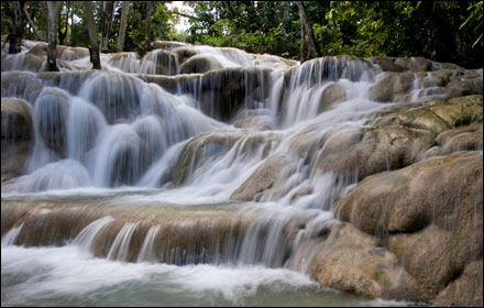 Dunn's River Falls is one of Jamaica's national treasures.