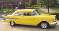 Yellow 1957 Chevy