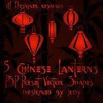 Chinese Lantern Stencils