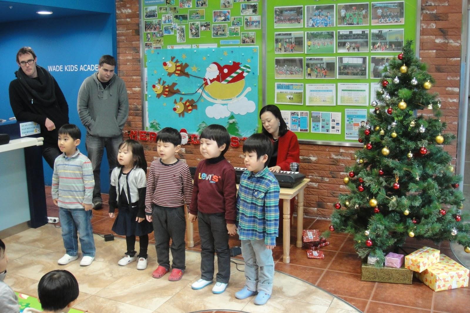 Not Just Kimchi: Wade Kids Academy Celebrates Christmas