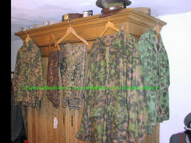 WW2 Waffen-SS camouflage smock, SS uniform and SS trousers