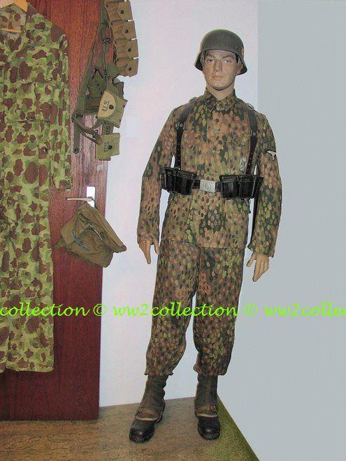 WW2 Waffen-SS M44 camouflage uniform