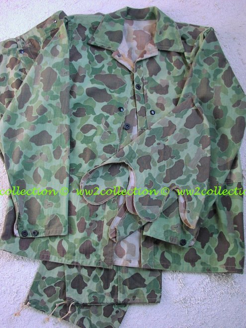 WW2 USMC camouflage jungle combat suit