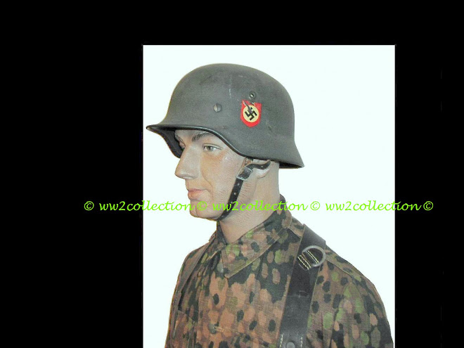 Waffen-SS Helmet M40 Double Decal field gray finish