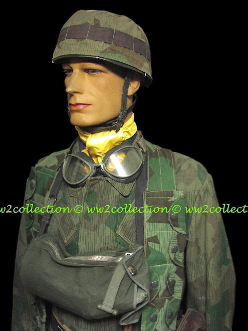 FJ Helmet Cover Splinter camo, cloth Fallschirmjäger Gasmask Bag