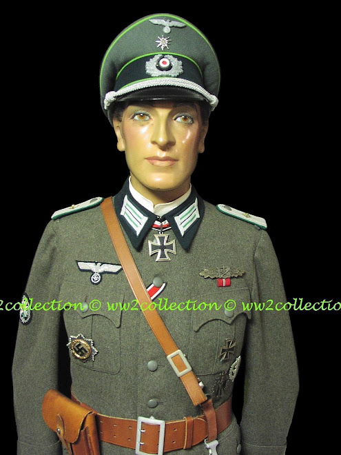 WW2 German Mountain Troops Officer Uniform and Visored Cap
